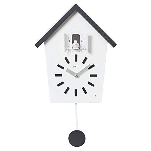 Cuco Clock Kuckucksuhr Bauernhaus mit Pendel Wanduhr Design Uhr modern Pendeluhr Kuckuck Holz Zeit Nachtruhe Chronometer
