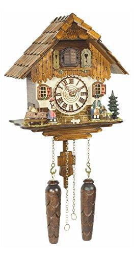 Kuckucksuhr/Schwarzwalduhr Chalet-Kuckucksuhren Kuckucksuhr Quarz-Uhrwerk Chalet-Stil 29cm von Trenkle Uhrenoriginal aus dem Schwarzwald von Trenkle Uhren
