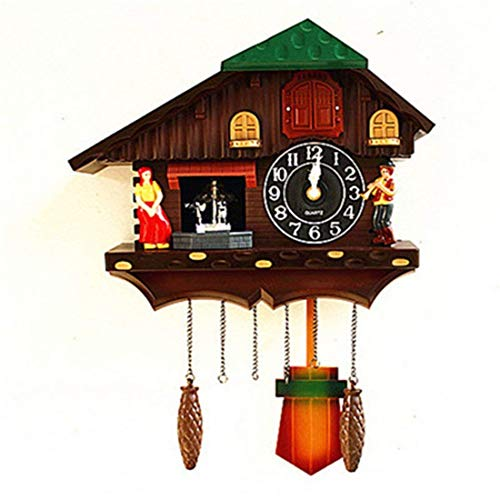 GYNMR Kreative Uhr Nordeuropa Ländliche Moderne Einfache Kreativität Kuckucksuhr Zeitmessung Wanduhr Stille Dekoration Geschenke Wohnzimmer Schlafzimmer Studie Kinderzimmer 20 Zoll