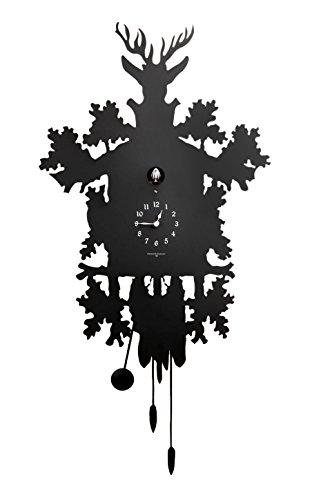 Diamantini & Domeniconi 45x 88x 10cm Laser Cut Metall Cucu Kuckucksuhr, schwarz