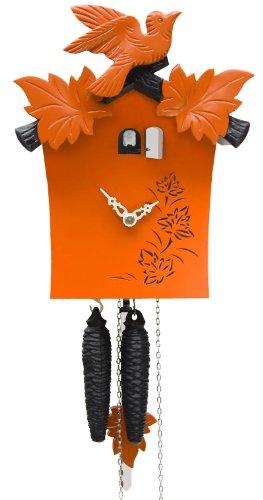 isdd Cuckoo Clock–Uhr CUCÚ Moderne, 1Tag Seil, Orange