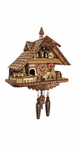 Engstler Quarz Kuckucksuhr großes Schwarzwaldhaus mit Musik und Tänzern EN 45110 QMT